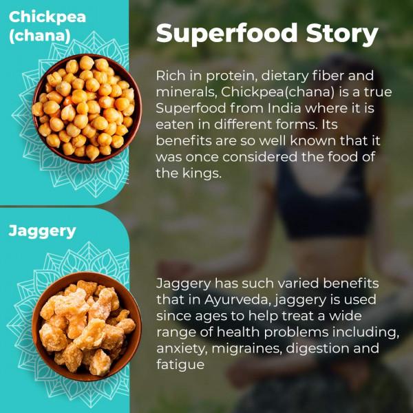 Gur Chana Supershots (Pack of 9 Jars * 90 gm) | Foodyoga