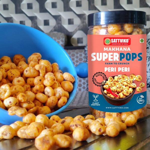 Peri Peri Makhana Superpops (Pack of 4 Jars* 65g) | Foodyoga