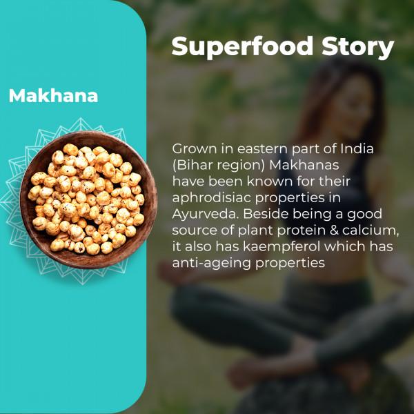 Roasted Makhana Variety Pack - Peri Peri + Pudina + Turmeric 2 each (Pack of 6 Jars * 67 gm) | Foodyoga